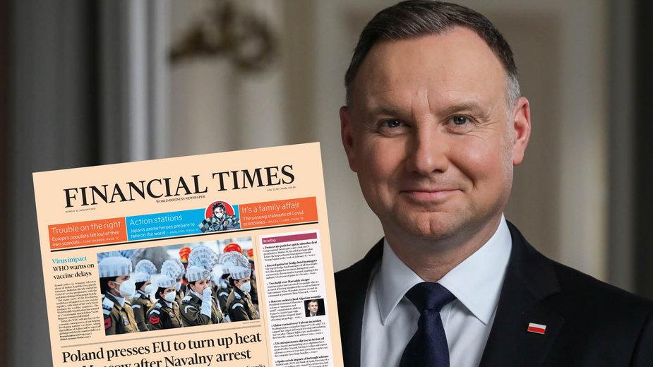 """Prezydent Andrzej Duda udzielił wywiadu dziennikowi """"Financial Times"""""""