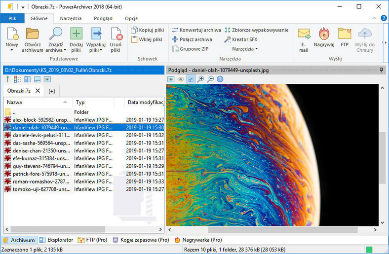 PowerArchiver - program do kompresji i dekompresji plików za