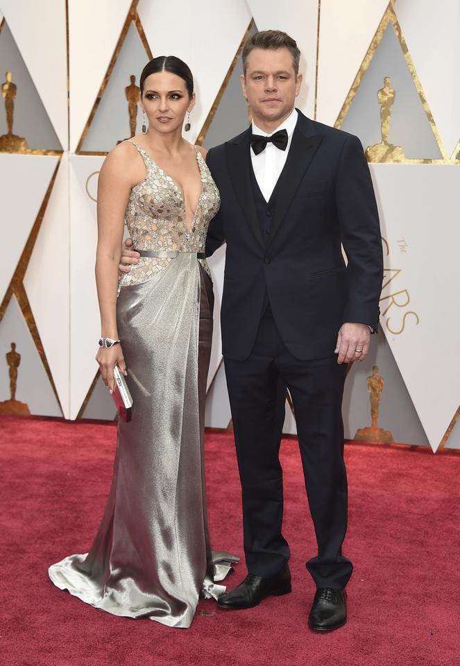 Luciana Barroso i Matt Damon i ich stylizacje na Oscary 2017