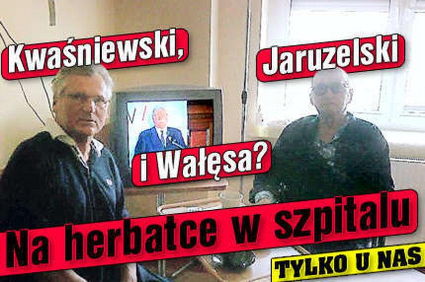 Kwaśniewski z Jaruzelskim w szpitalu. Gawędzili przy herbatce i... Wałęsie!
