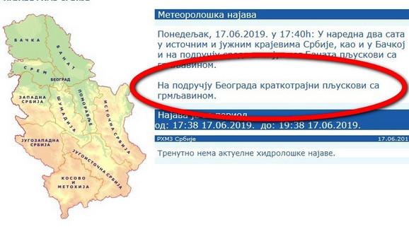 Poslednje upozorenje za Beograd