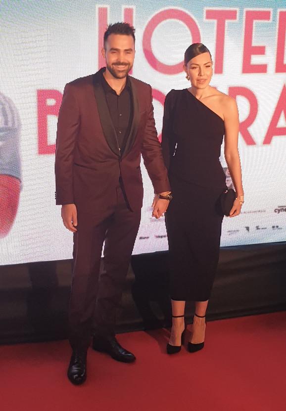 Miodrag i Milica na premijeri filma