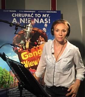 Sonia Bohosiewicz na planie