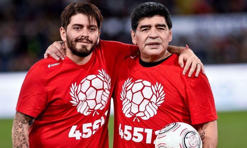 Diego Maradona z 34-letnim synem Diego