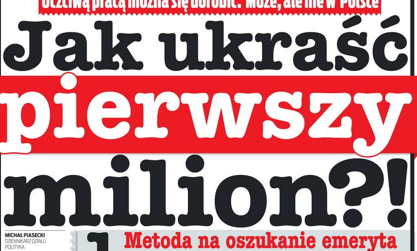 Jak ukraść w Polsce pierwszy milion.