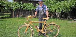 Drewniany rower ze Zduńskiej Woli