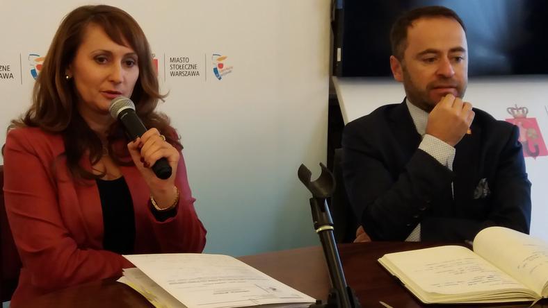Renata Kaznowska i Michał Olszewski, wiceprezydenci Warszawy