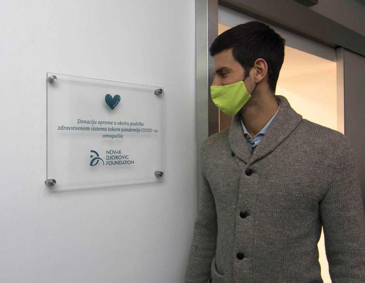"Novak Đoković nakon donacije KBC ""Dr Dragiša Mišović"""
