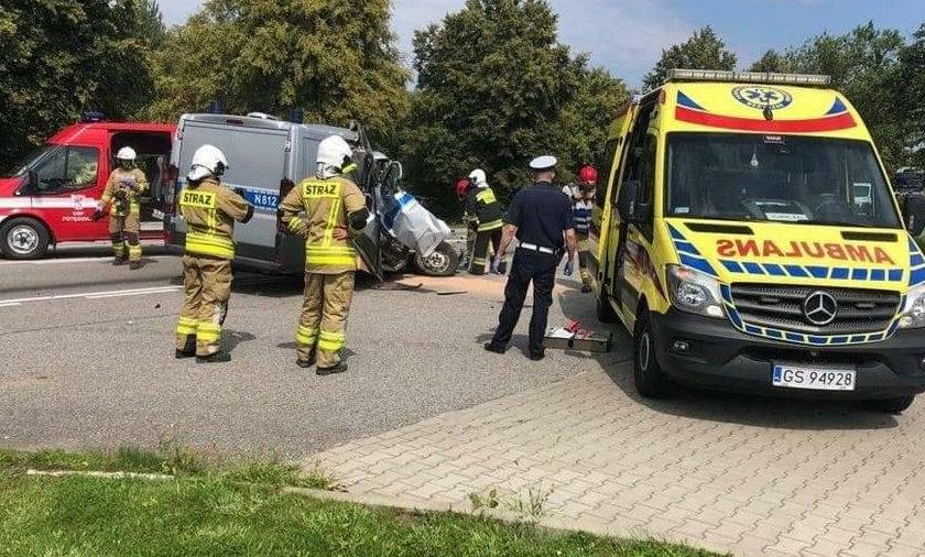 W wypadku zginął pasażer radiowozu