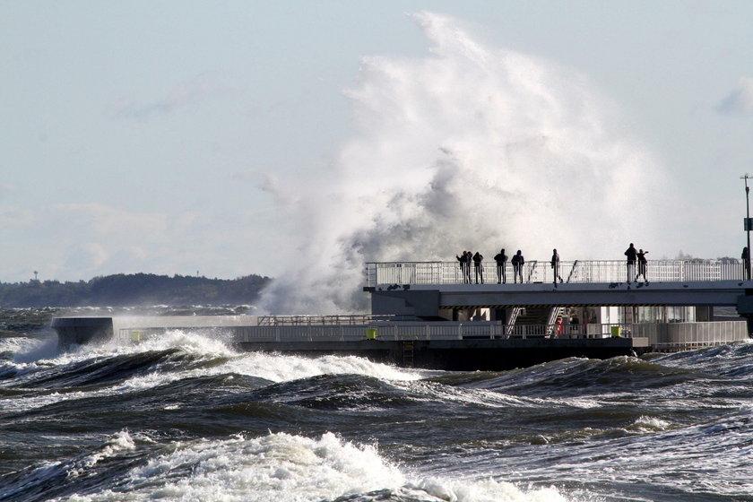Sztorm na Bałtyku osiągnie w sobotę  8-10 stopni w skali Beauforta