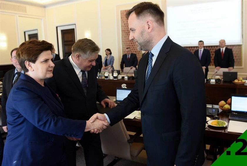 Beata Szydło i Dawid Jackiewicz