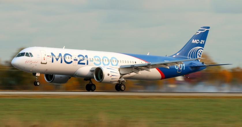 Rosyjski samolot Irkut MC-21