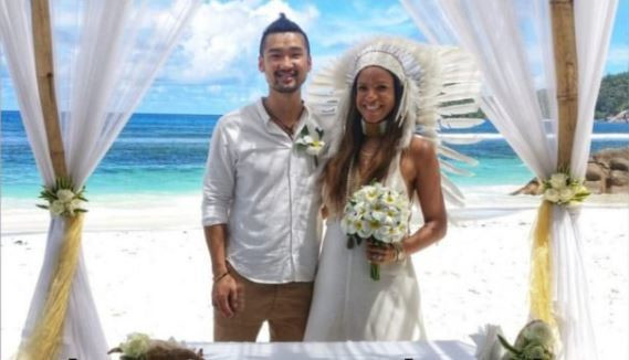 Former K24 News Anchor Michelle Morgan weds longtime boyfriend in Seychelles