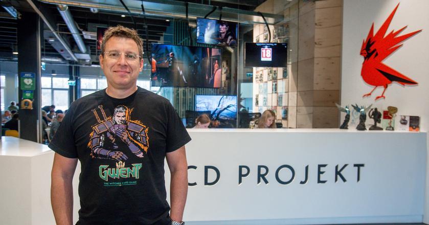 Na zdjęciu Adam Kiciński, prezes zarządu CD Projekt, który odnotował ponad 200 mln zł zysku w 2017 r.