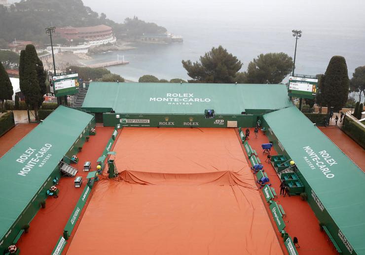 Masters u Monte Karlu, kiša