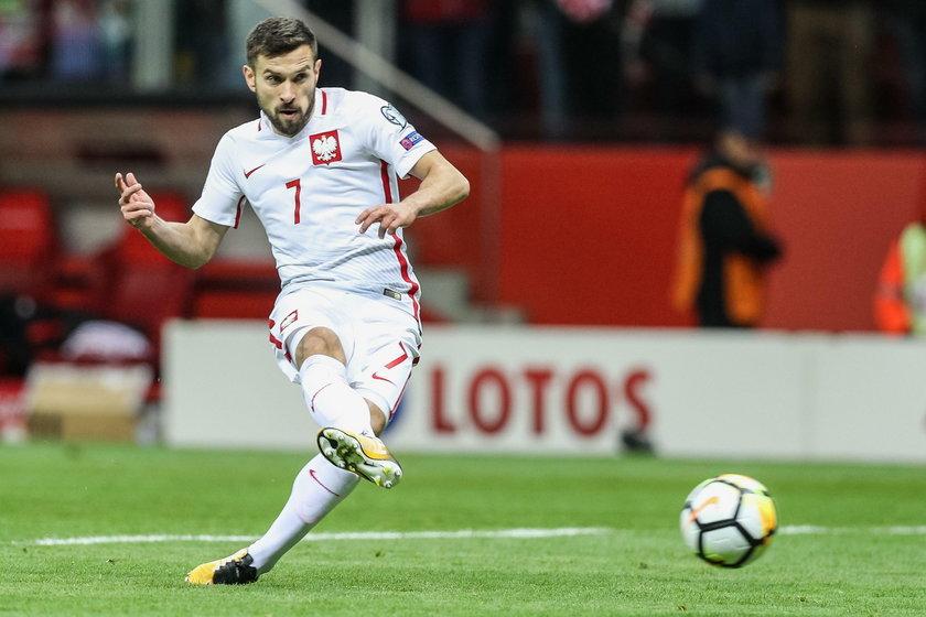 Pilka nozna. Eliminacje do MS 2018. Polska - Czarnogora. 08.10.2017