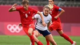 Canada beat the USA to reach the Olympic women's football final Creator: MARTIN BERNETTI