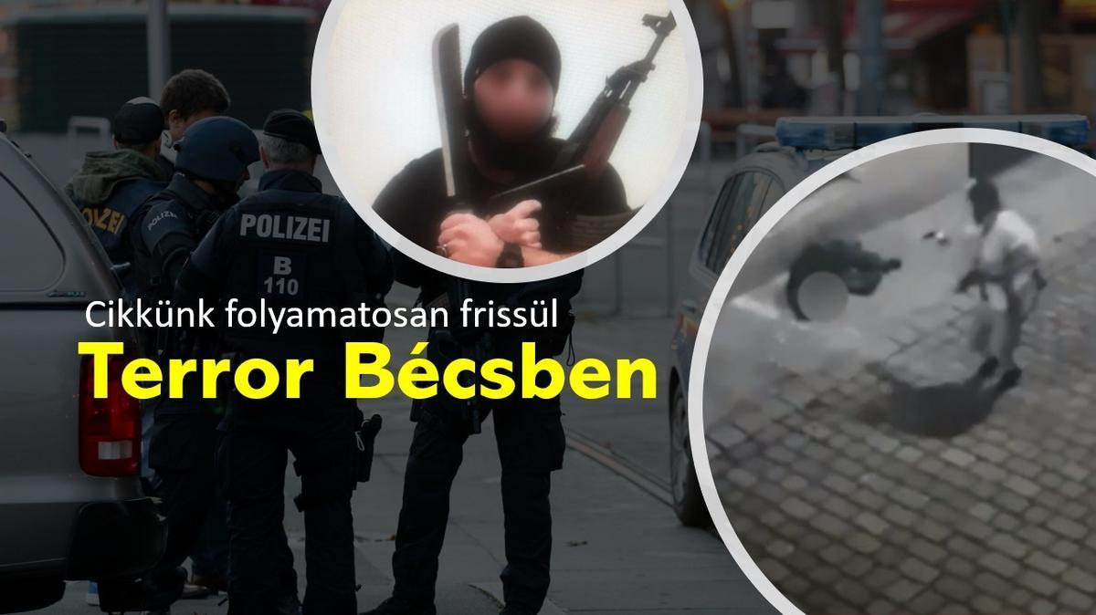 Bécsi terrortámadás: kilenc perccel az első lövések után már halott volt a terrorista