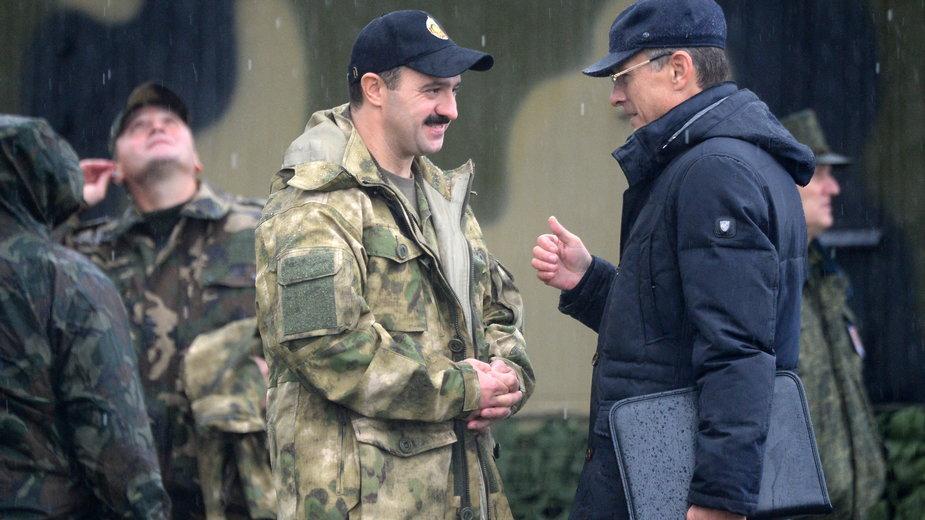 Na zdjęciu Wiktar Łukaszenko. Zdjęcie z 2017 r.