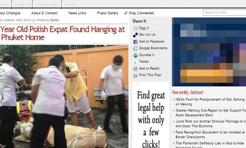Polak powiesił się w Bangkoku