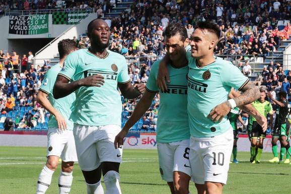 Detalj sa meča Sasuolo - Inter