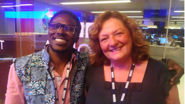 Bode Asiyanbi with BBC's Jenny Horrocks [Instagram]