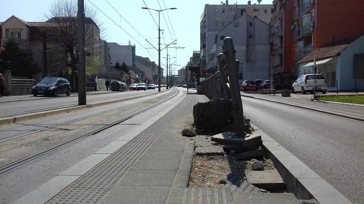 Vojvode Stepe, uništena ograda