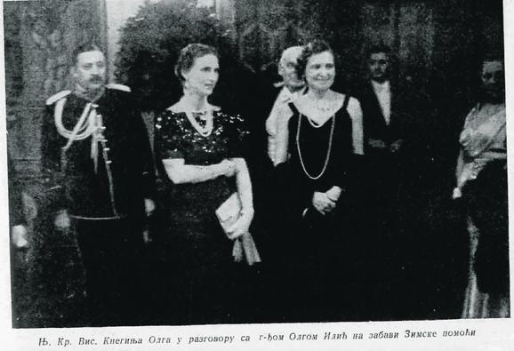 Olga Ilić Dunđerski na dobrotvornom balu s kneginjom olgom