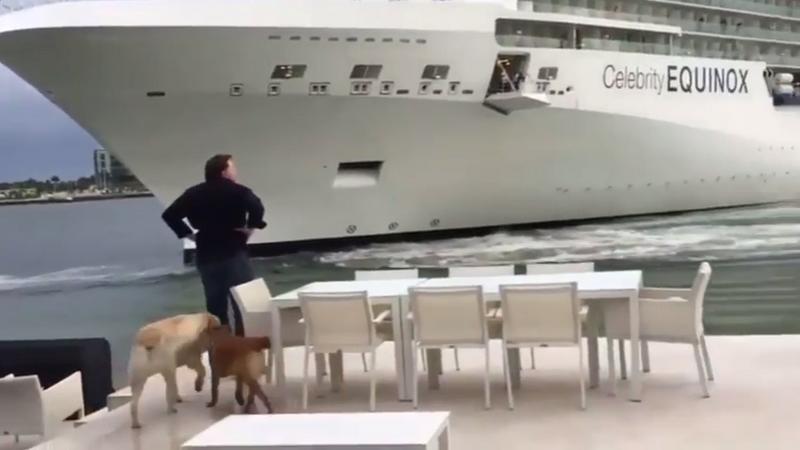 Wyszedł na taras swojego domu i zobaczył 300-metrowy statek