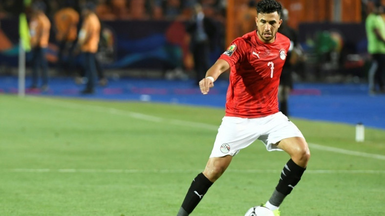 Egypt midfielder Mahmoud 'Trezeguet' Hassan in action at the 2019 Africa Cup of Nations