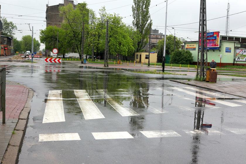 Remont ulicy Dąbrowskiego w Łodzi