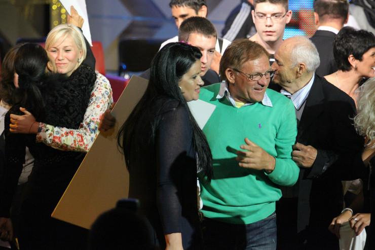 Miloš Bojanić sa suprugom Brankom nakon proglašenja