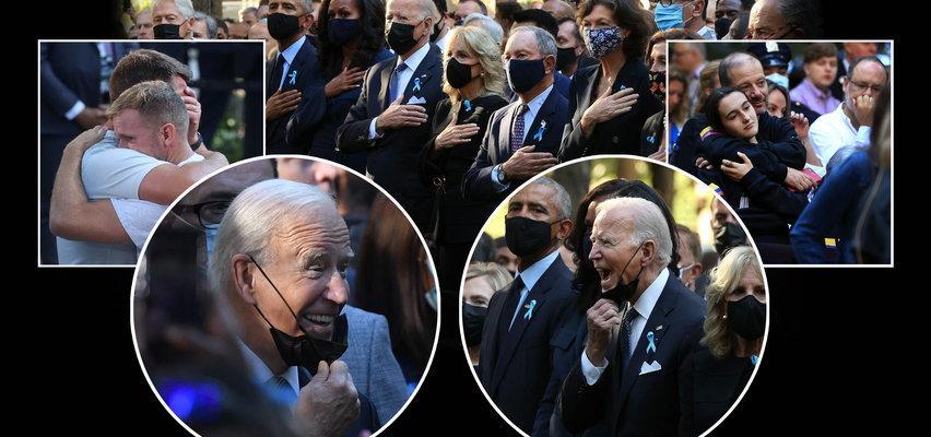 Biden śmieje się podczas minuty ciszy dla ofiar ataków na WTC. Bardzo dziwne zdjęcia...