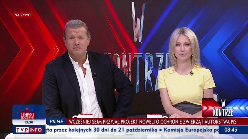 Jarosław Jakimowicz i Magdalena Ogórek tańczą do Modern Talking w TVP Info. Sieć zalały zabawne przeróbki