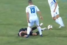 JEZIVA SCENA U SURDULICI Ožegović BEZ SVESTI završio na travi, HITNA POMOĆ ga odvezla sa terena /VIDEO/