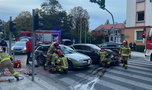 Groźny wypadek na skrzyżowaniu. Wszystko nagrała kamera