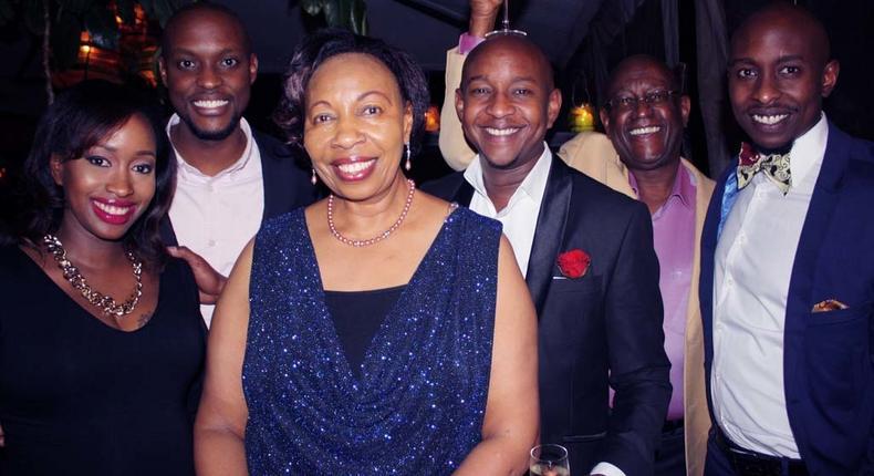 L-R: Janet Mbugua, Eddie Ndichu, Janet's Mum, Samuel Mbugua, Their dad and Timothy Mbugua (officialjanetmbugua.com)
