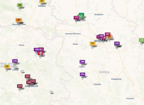 Zagađenje u Srbiji i regionu izrazito danas