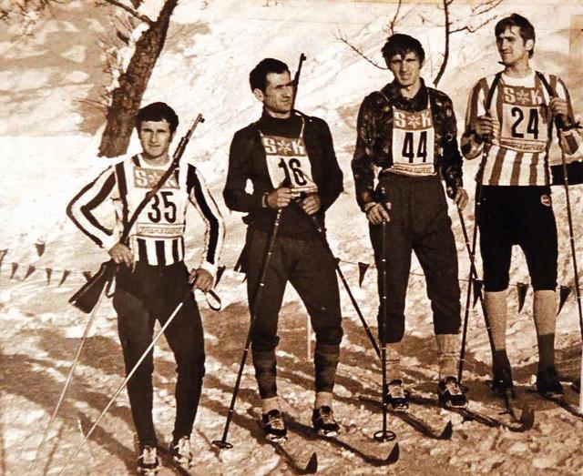 Prvi srpski takmičari u nordijskom skijanju