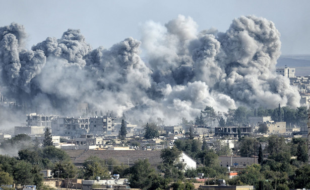 Nalot w Kobane w Syrii
