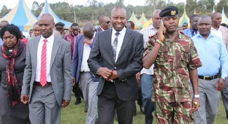 Hillary Barchok (Left) to be sworn in as Bomet Governor on August 8 following Dr Joyce Laboso burial
