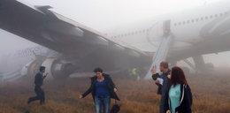 Wypadek samolotu z 224 pasażerami! Nie trafił w pas