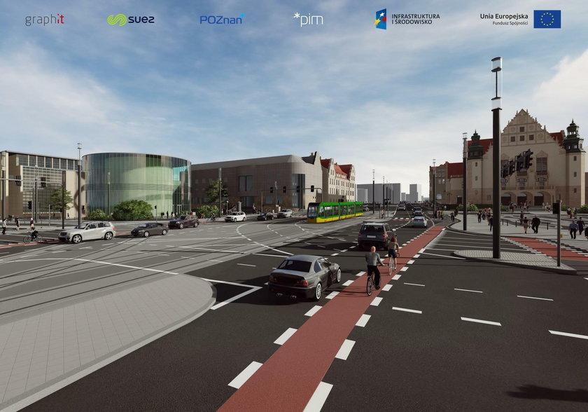 Tak zmieni się skrzyżowanie w centrum Poznania