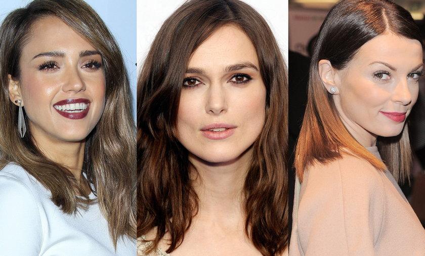 Ta długość włosów pasuje do każdego kształtu twarzy