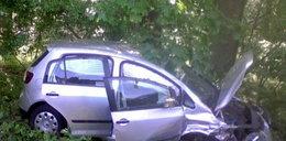 Zderzyły się 3 auta. 62-latka w szpitalu