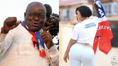 Nana Addo not responsible for the collapse of Ghana showbiz industry - Afia Schwarzenegger blasts celebs