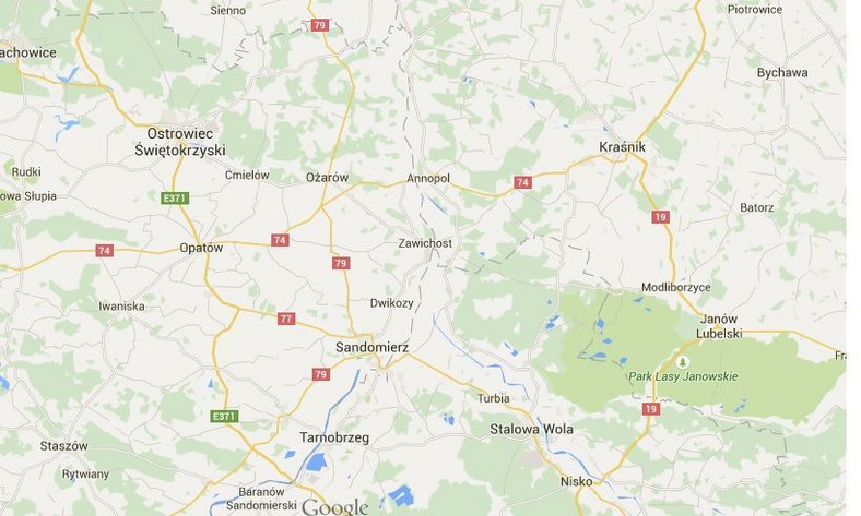 Wisła zniknęła z map Google'a