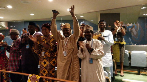 Nigeria's Tijjani Muhammad-Bande Elected UNGA President and other officials (Twitter/UN GA President)