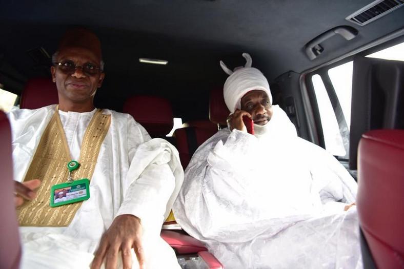 Sanusi and el-Rufai depart Nasarawa for Abuja (Twitter: @GovKaduna)