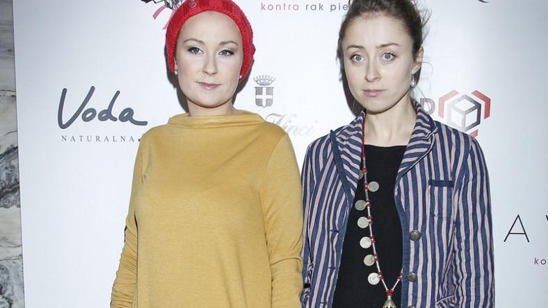Paulina i Natalia Przybysz na pokazie Mariusza Przybylskiego.
